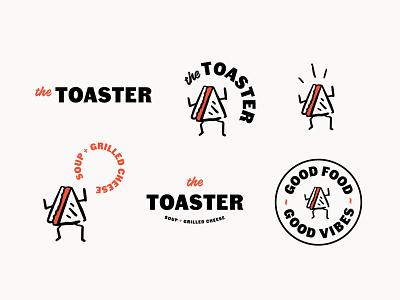 The Toaster vancouver logo design sandwichillustration illustration grilledcheese logo sandwichshop soup sandwich