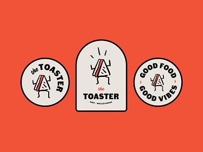 The Toaster saltspring vancouver sandwichshop toaster thetoaster illustration sandwich grilledcheese logo brand