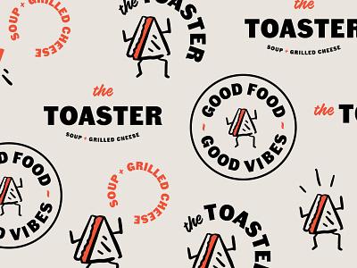 The Toaster Pattern vancouver britishcolumbia logo sandwichshop sandwich grilledcheese toaster thetoaster branding illustration design