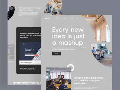 Digital agency landing page - Exploration 2020 trend digital marketing agency marketing agency landing  page app design landing page trendy design homepage ui ux clean ui minimal agency mockups creative dailyui visual design ios web design product design