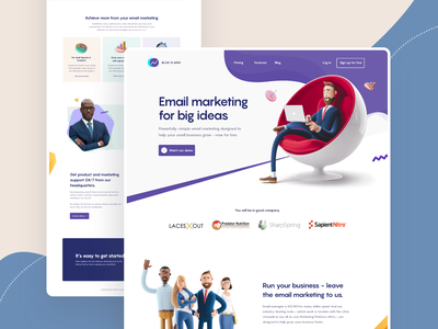 Email Marketing Landing page website design 2020 trend email marketing marketing agency landing  page app design landing page trendy design homepage ui ux clean ui minimal agency mockups creative visual design ios web design product design