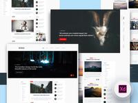 2 Blog Homepage - Freebie