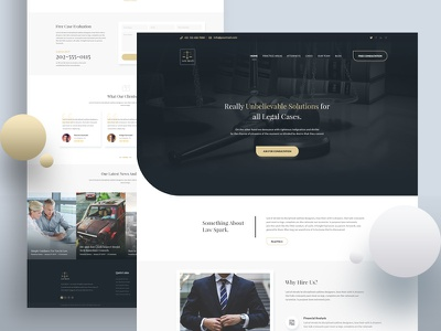Law Firm - Homepage Exploration attorneys lawyer law firm law lawfirm design mockup minimal clean ui agency ux ui homepage landing page creative