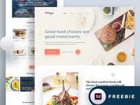 Food Landing Page - Freebie