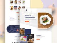 Restaurant landing page exploration