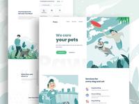 Pet Care Landing Page