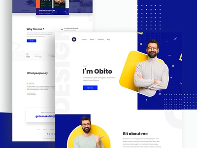 Personal Portfolio 2019 product design web design testimonial personal portfolio portfolio website visual design dailyui creative mockups agency minimal clean ui ux ui homepage trendy design 2019 trend landing page