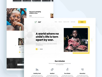 Fundraising landing page web design product design ios testimonial visual design creative mockups agency minimal clean ui ux ui homepage trendy design 2019 trend landing page app design landing  page fundraising landing page charity landing page