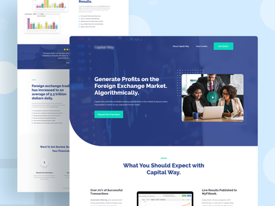 Financial Technology Landing page product design web design financial company financial company landingpage ios website visual design creative mockups agency minimal clean ui ux ui homepage trendy design 2019 trend landing page app design landing  page