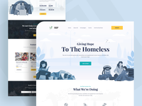 Fundraising landing page