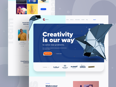 Landing Page Exploration design agency digital marketing agency landing  page app design landing page 2019 trend trendy design homepage ui ux clean ui minimal agency mockups creative dailyui visual design ios web design product design