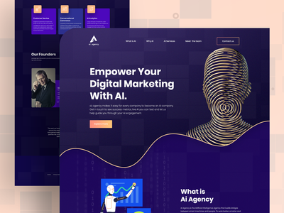 Landing Page Exploration artificial intelligence c4d product design web design ios visual design dailyui creative mockups agency minimal clean ui ux ui homepage trendy design 2019 trend landing page app design