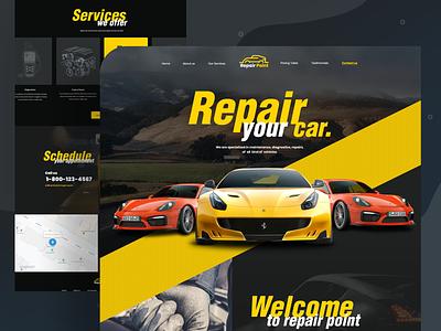 Car Repair Home page repair shop car repair shop car product design visual design ios app trendy design mockups minimal clean ui ux ui creative agency landing page 2019 trend 2019