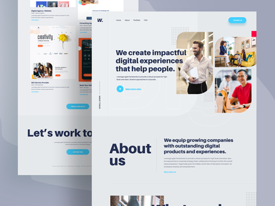 Digital marketing agency 2020 trend digital marketing agency marketing agency landing  page app design landing page trendy design homepage ui ux clean ui minimal agency mockups creative dailyui visual design ios web design product design
