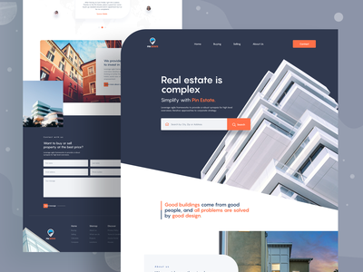 Real Estate Landing Page 2020 trend real estate landing page marketing agency landing  page app design landing page trendy design homepage ui ux clean ui minimal agency mockups creative dailyui visual design ios web design product design