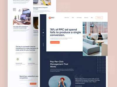 PPC Agency 2020 trends pay per click agency marketing agency landing  page app design landing page trendy design homepage ui ux clean ui minimal agency mockups creative dailyui visual design ios web design product design