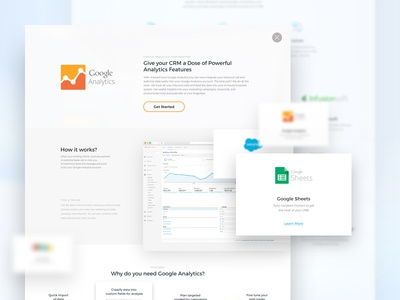 Answerforce - Integration page design visual ux ui integrations service clean page landing template