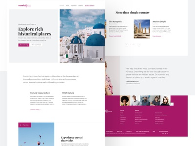 Travel Experience experience homepage landing page ux ui web webdesign travel