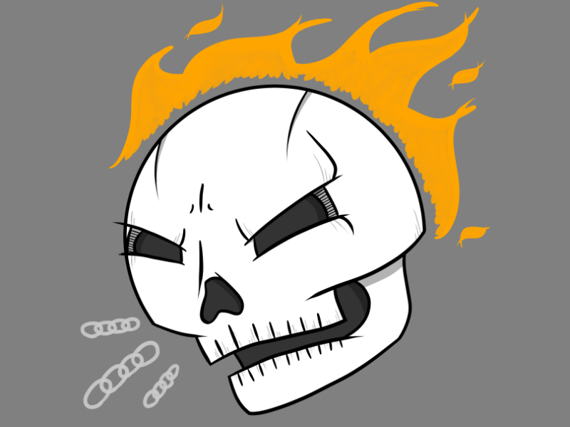 Ghast Raider ghost rider marvel comic comics illustration drawing