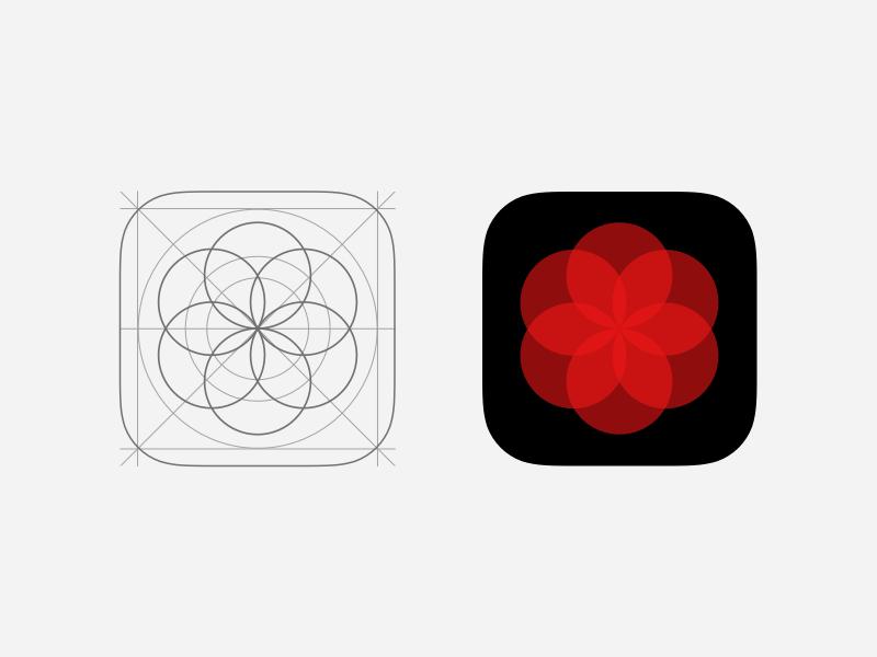 Dialbook Icon grid ratio geometric circles groups dial icon app iphone ios