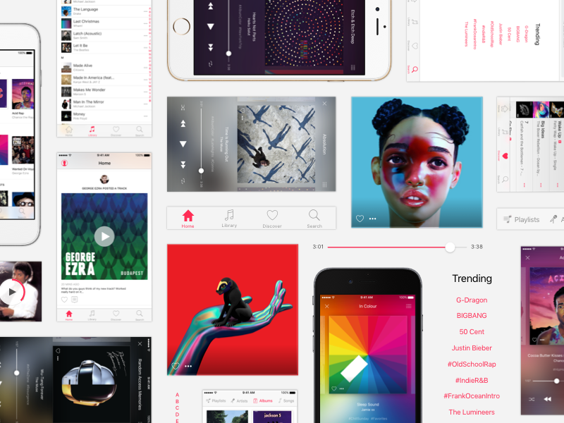 Apple Music Redesign (Final) apple music songs playlist player album app music ios artist