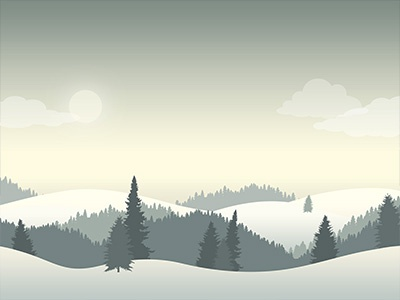 Winter Landscape Constructor Example 3 snow forest trees hills landscape winter