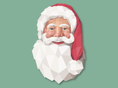 Polygonal Santa Claus vector lowpoly polygon holidays christmas santa claus