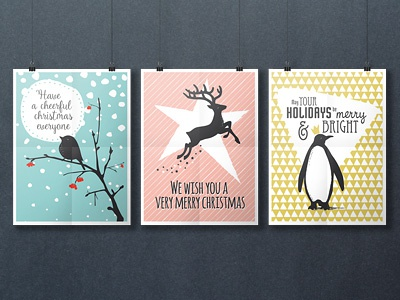 Winter Graphics pattern bird deer penguin christmas holiday winter vector
