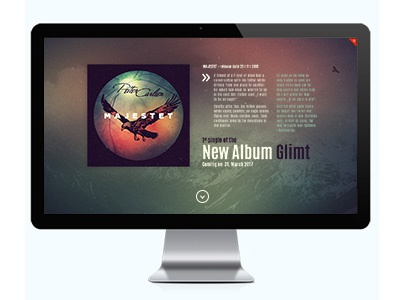 Petter Carlsen Intro webdesign wordpress intro website music