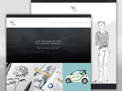 Nordicworking Web web design graphic design portfolio website webdesign