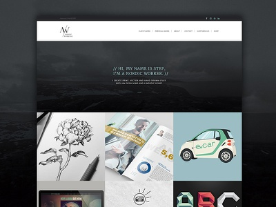 Nordicworking Web Online webdesign website portfolio graphic design design web freelancer homepage simple