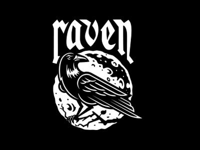 RAVEN logo design illustration