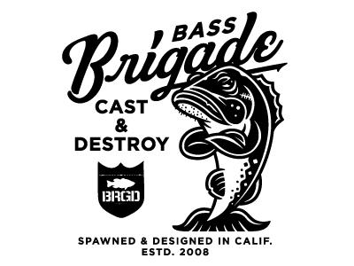 BRGD bass mascot illustration design