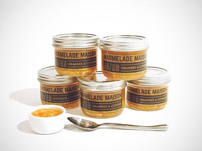 Marmelade jam packaging marmelade citrus orange lemon