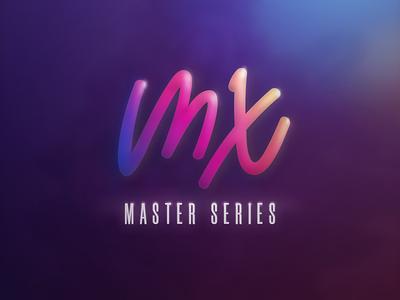DESIGN TO THE MX — Logitech branding gradient art lettering logo