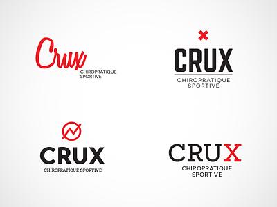 Logo Crux — Chiro sportive logo chiro sport first aid
