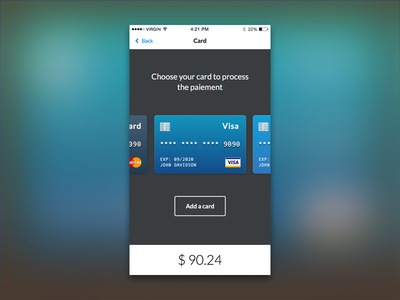 Daily UI #002 - Credit Card Check Out paiement credit card check out