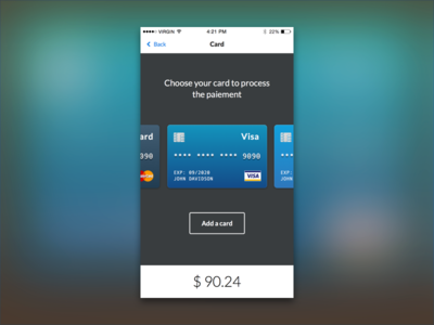 Daily UI #002 - Credit Card Check Out
