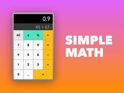 Daily UI #004 - Calculator calculator
