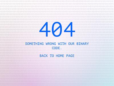Daily Ui #008 - 404 404
