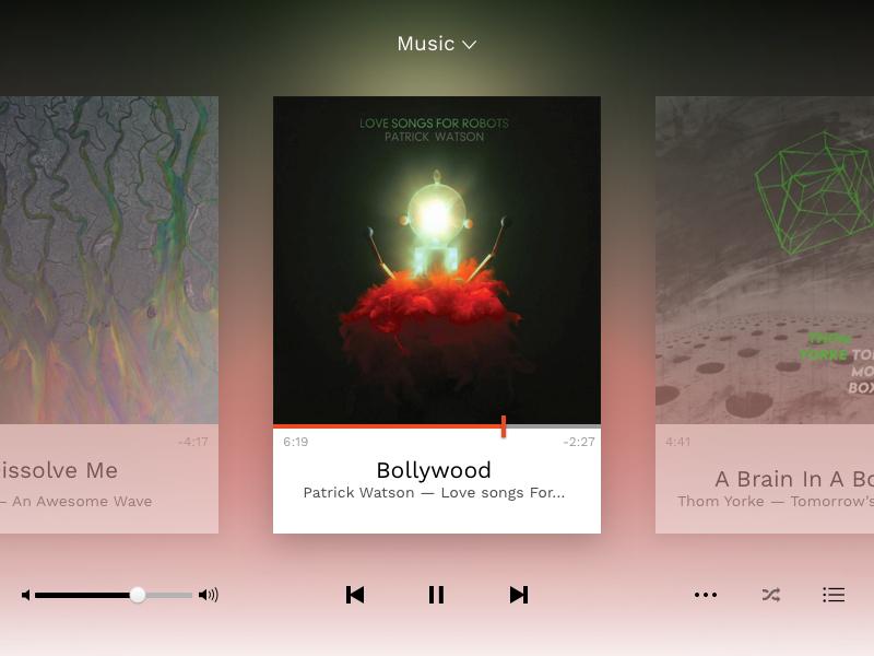 Daily Ui #009 - Music Player player music