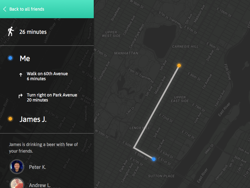 Daily Ui #020 - Location Tracker map location app