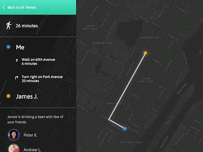 Daily Ui #020 - Location Tracker map location app