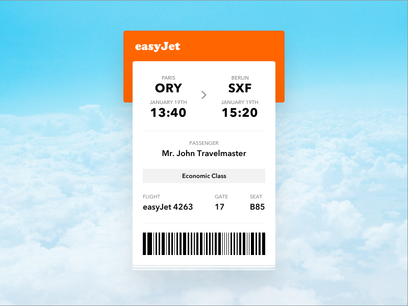 Daily Ui #024 - Boarding Pass boarding pass ticket plane