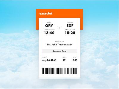 Daily Ui #024 - Boarding Pass boarding pass ticket plane