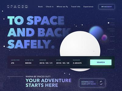Spaced Challenge  - Homepage website logo homepage challenge spaced