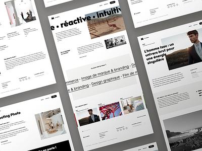 M Agency agency ui webdesign website ux art direction
