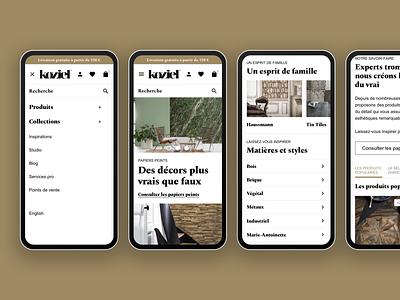 Koziel Mobile Screens mobile ui design responsive website