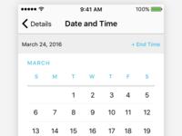 A Date Picker
