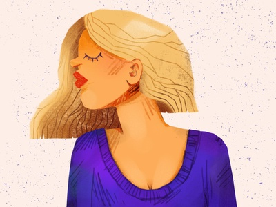 Portrait blonde womens day digital illustration artwork woman portrait illustration